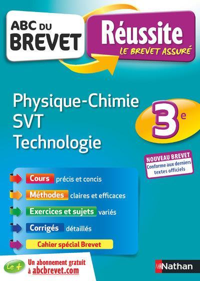 ABC DU BREVET REUSSITE T.36 ; physique-chimie ; SVT ; technologie ; 3e (édition 2019)