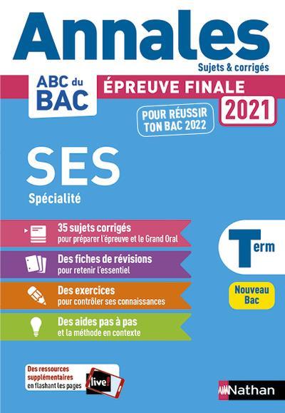 Annales ABC du bac ; sujets & corrigés ; sciences économiques et sociales ; terminale spécialité (édition 2020)