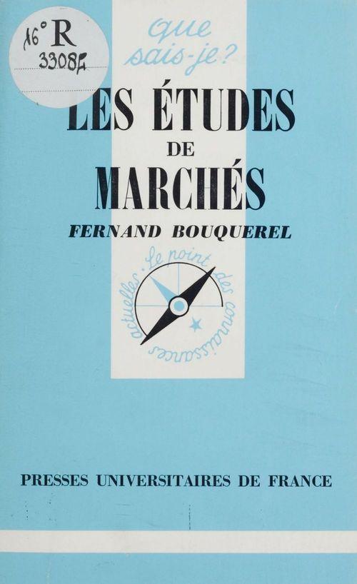 Les etudes de marches 1991