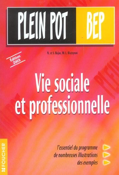 vie sociale et professionnelle