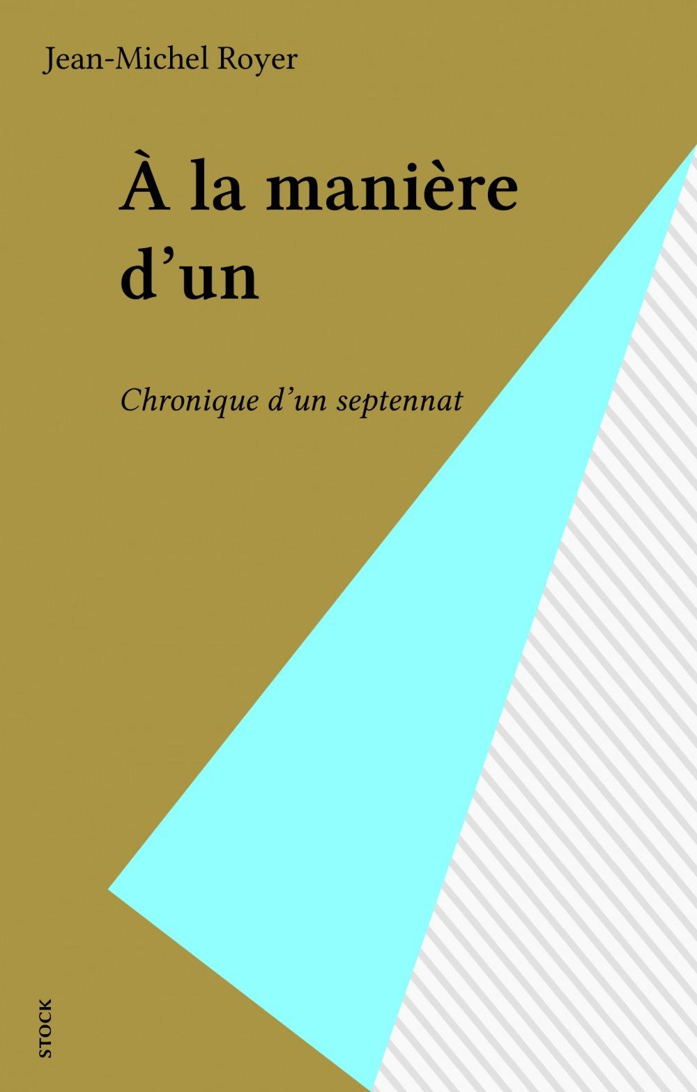 À la manière d'un  - Jean-Michel Royer