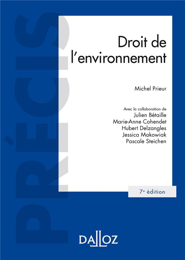 Droit de l'environnement (7e édition)