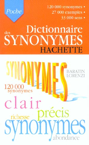 Dictionnaire Hachette Poche ; Synonymes (Edition 2003)