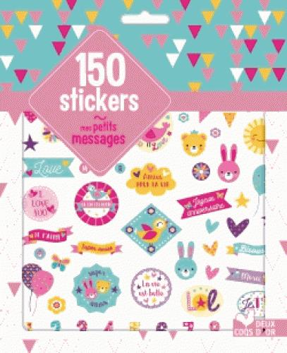 GOMMETTES ; 300 stickers mes jolis messages ; pochette d'autocollants pailletés