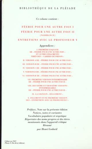 Romans t.4 ; féerie pour une autre fois t.1 ; féerie pour une autre fois t.2 ; entretiens avec le professeur Y