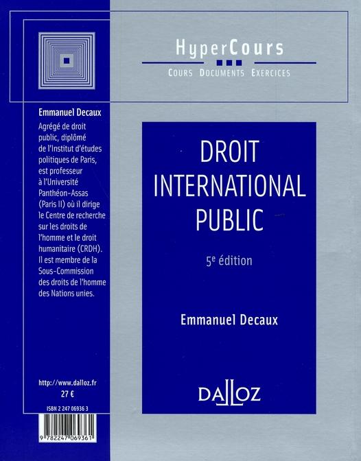 Droit international public (5e édition)