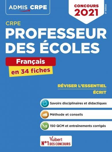 CRPE ; concours professeur des écoles (édition 2021)
