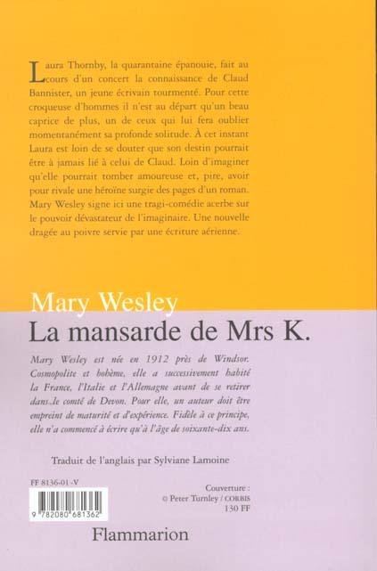 La mansarde de mrs k
