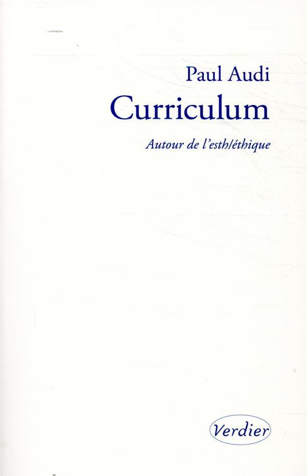 CURRICULUM  -  AUTOUR DE L'ESTHETHIQUE