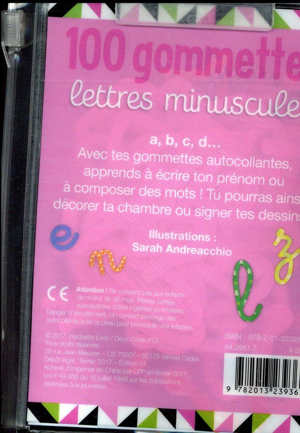 GOMMETTES ; 100 gommettes ; lettres minuscules