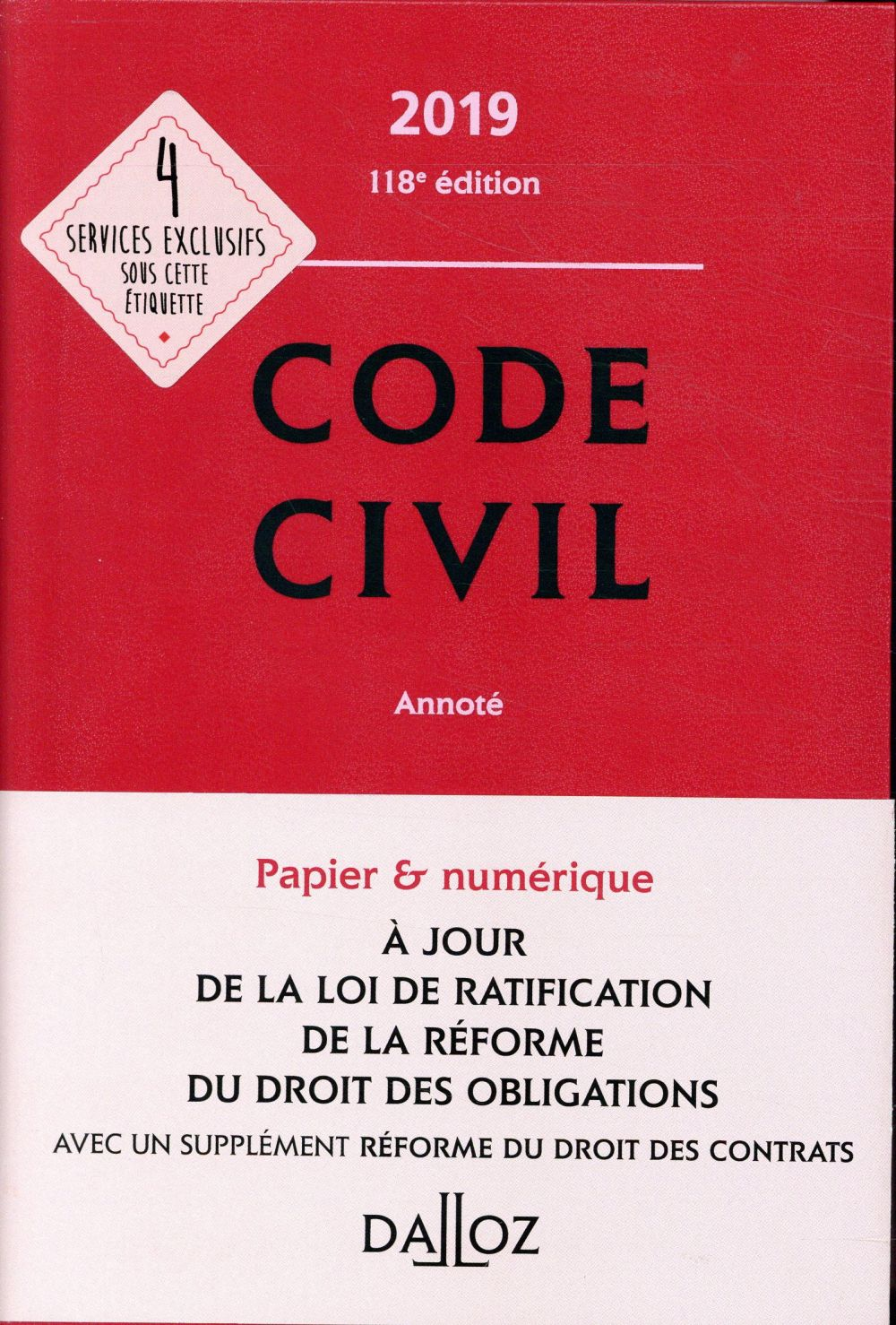 Code civil annoté (édition 2019)