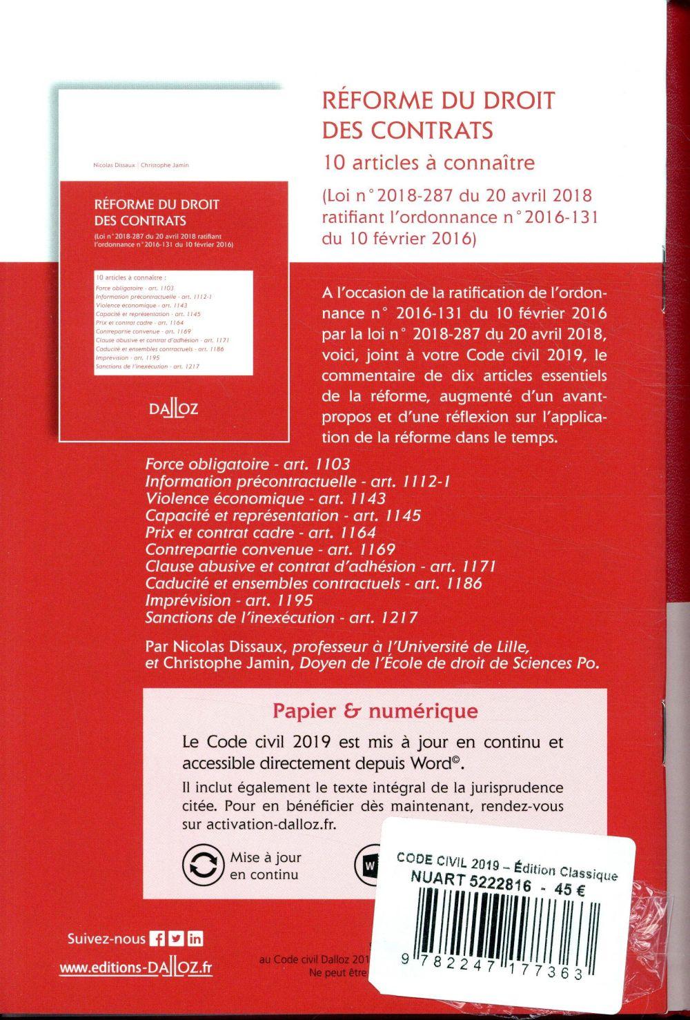 Code civil annoté (édition 2019) (118e édition)