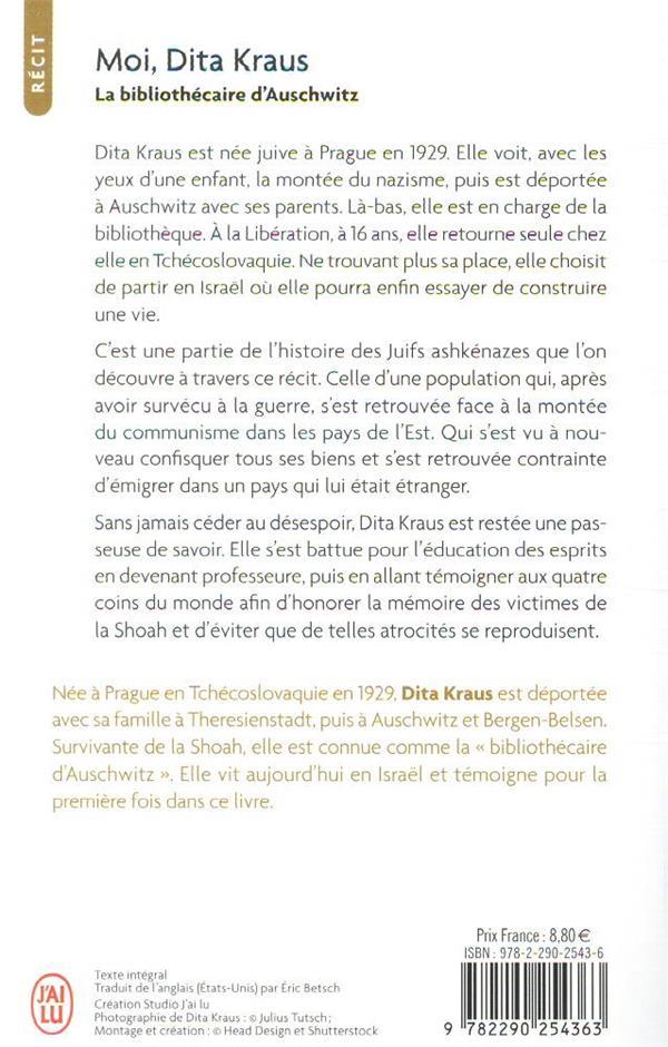 Moi, Dita Kraus : la bibliothécaire d'Auschwitz