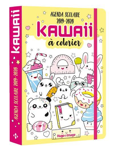 Agenda scolaire kawai à colorier (édition 2019/2020)