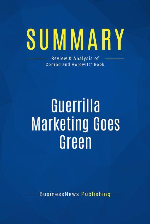 Summary: Guerrilla Marketing Goes Green