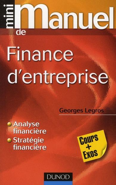 Mini Manuel; De Finance D'Entreprise