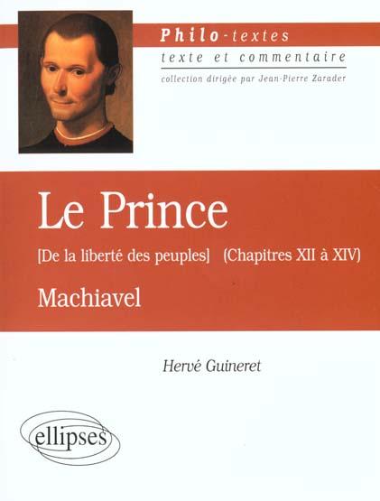 MACHIAVEL LE PRINCE (DE LA LIB
