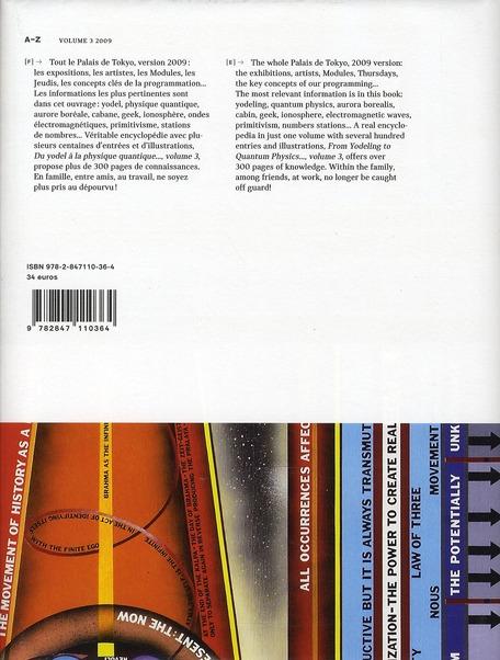 2009 A-Z ;du yodel a la physique quantique... ; from yodeling to quantic physics t. 3