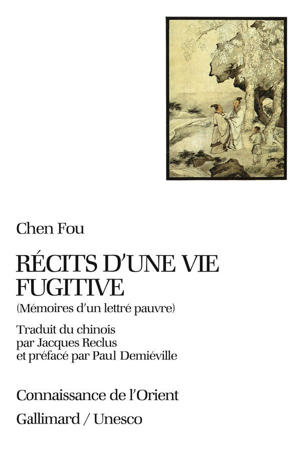 RECITS D'UNE VIE FUGITIVE (MEMOIRES D'UN LETTRE PAUVRE)