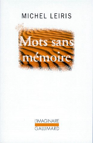 Mots sans mémoire