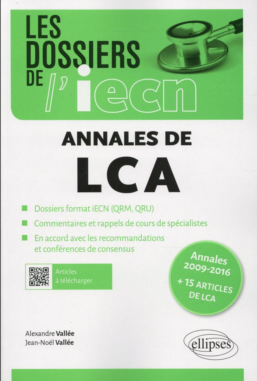 Les annales de LCA 2009 à 2016 ; 15 articles de LCA