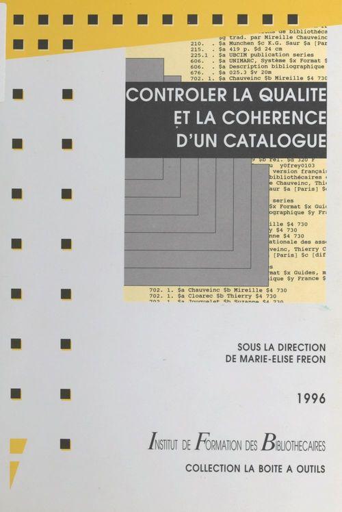 Contrôler la qualité et la cohérence d'un catalogue