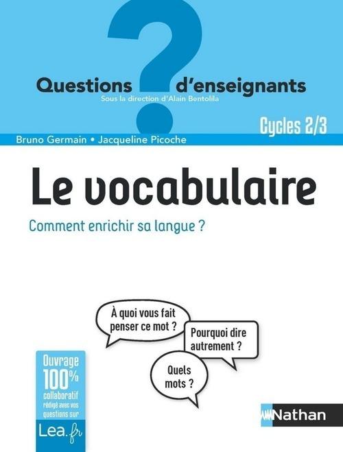 Le vocabulaire, comment enrichir sa langue ? cycles 2 & 3