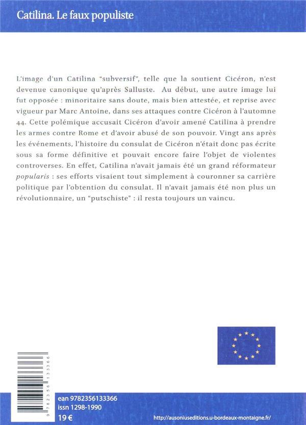 Catilina. le faux populiste