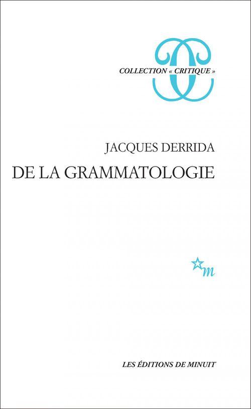 De la grammatologie