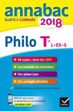 ANNABAC SUJETS & CORRIGES ; philosophie ; terminale L, ES, S (édition 2018)