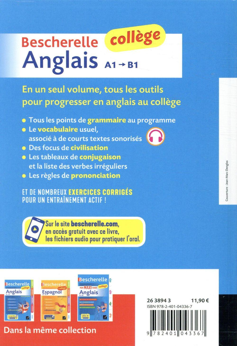 Bescherelle Anglais College Bignaux Jeanne Franc Hatier Grand Format Le Hall Du Livre Nancy