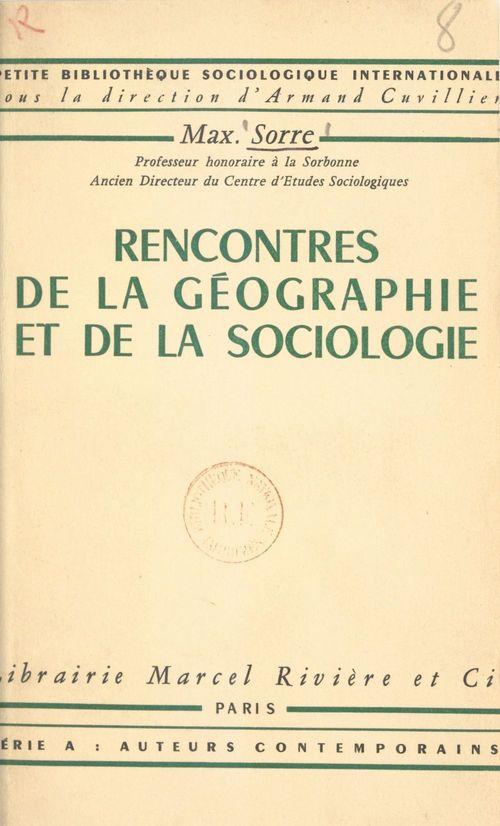 Rencontres de la géographie et de la sociologie