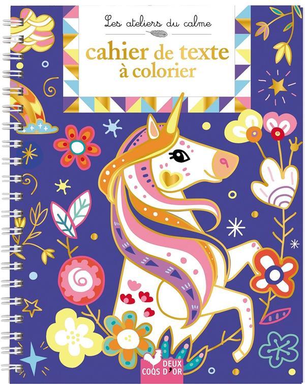 Mon cahier de texte à colorier