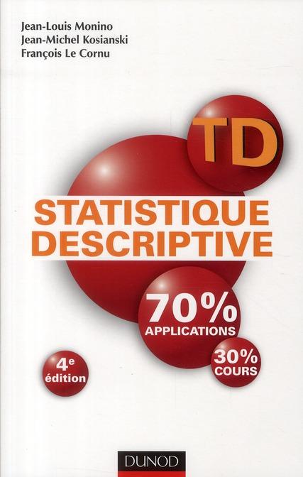 Td De Statistique Descriptive (4e Edition)