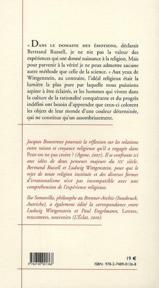 que peut-on faire de la religion ? deux fragments inédits de Wittgenstein