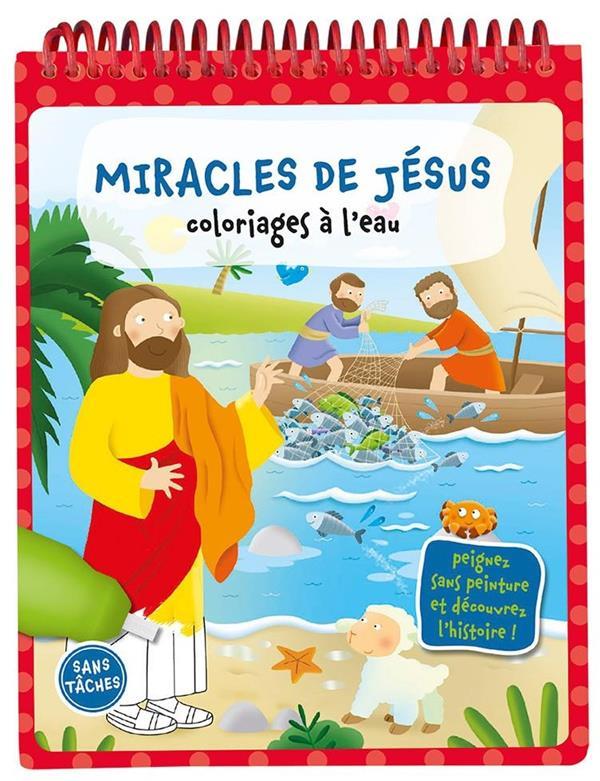 Coloriages à l'eau ; les miracles de Jésus