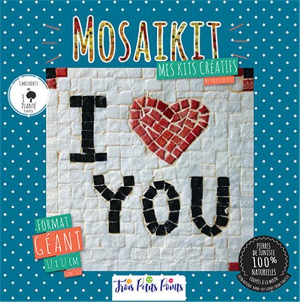 Mosaikit ; mes kits créatifs ; i love u