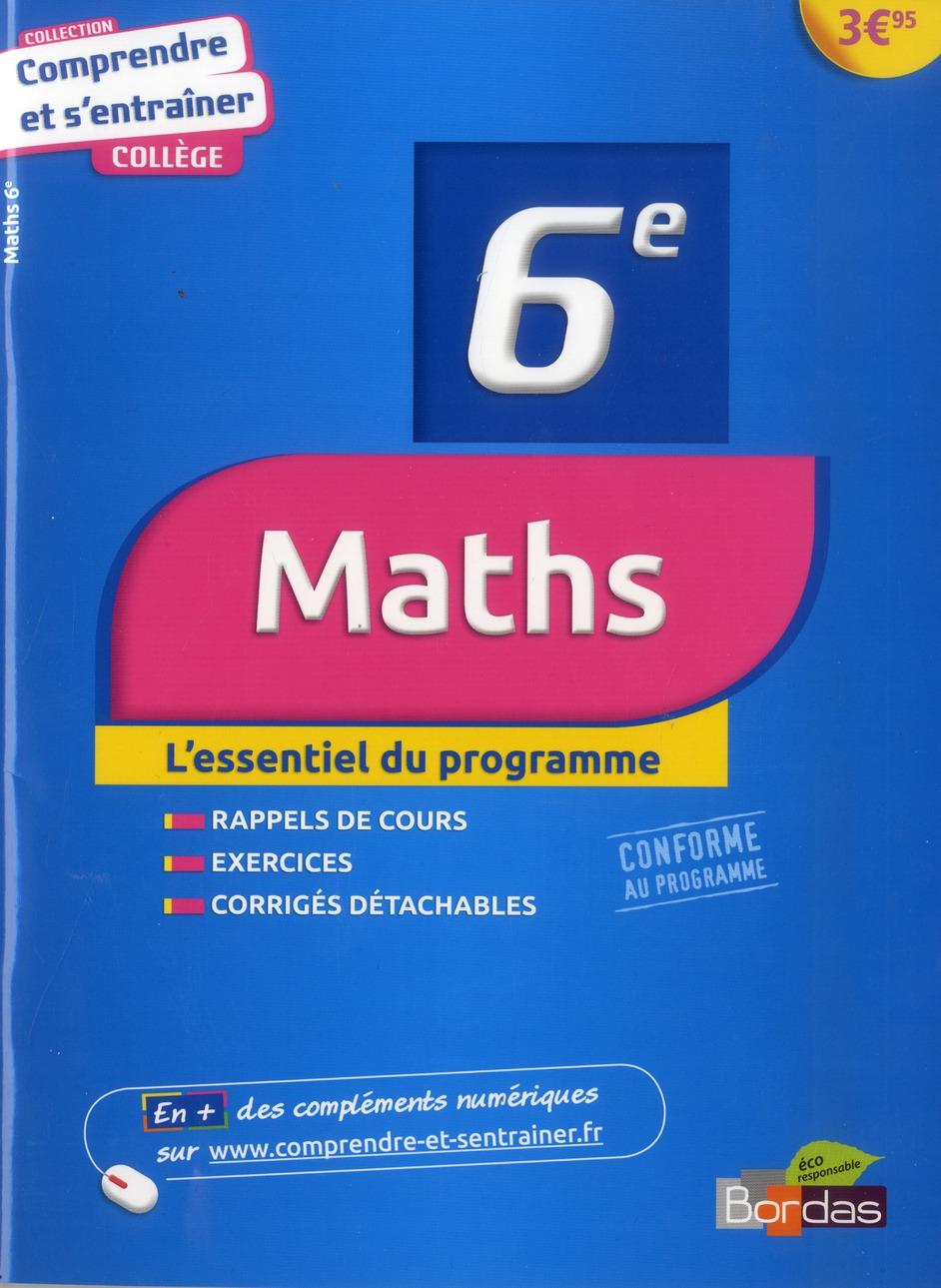 Comprendre Et S Entrainer Maths 6e Lionel Weinsanto Bordas Grand Format Librairies Autrement