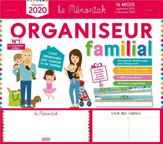 Mémoniak ; organiseur familial (édition 2019/2020)