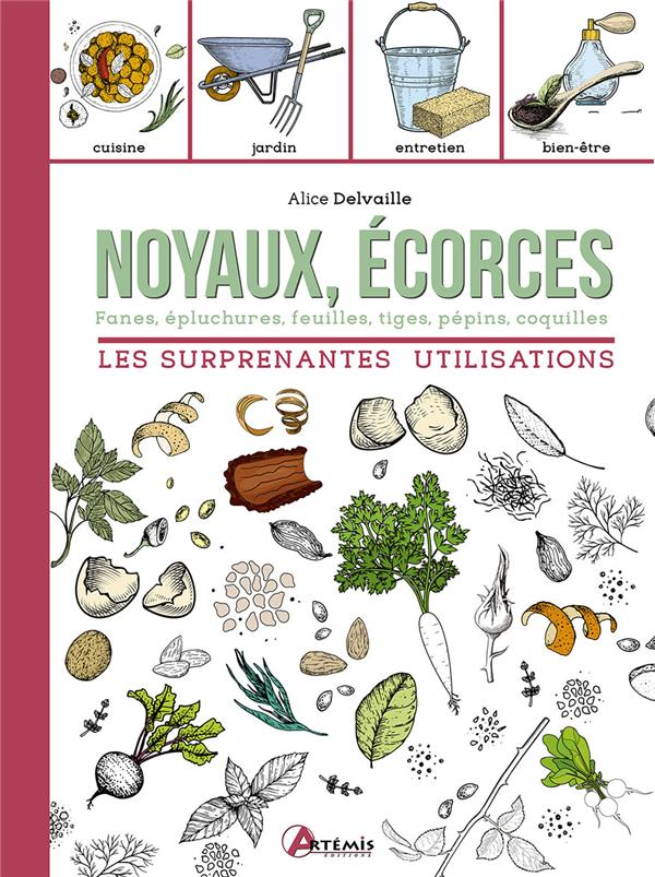 Noyaux, écorces : les surprenantes utilisations ; fanes, épluchures, feuilles, tiges, pépins, coquilles