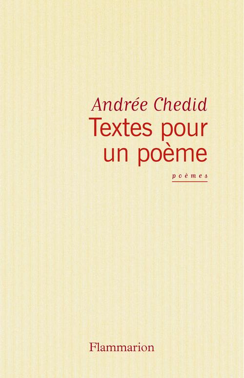 Textes pour un poème