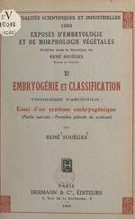Vente Livre Numérique : Embryogénie et classification (3). Essai d'un système embryogénique (partie spéciale : première période du système)  - René Souèges