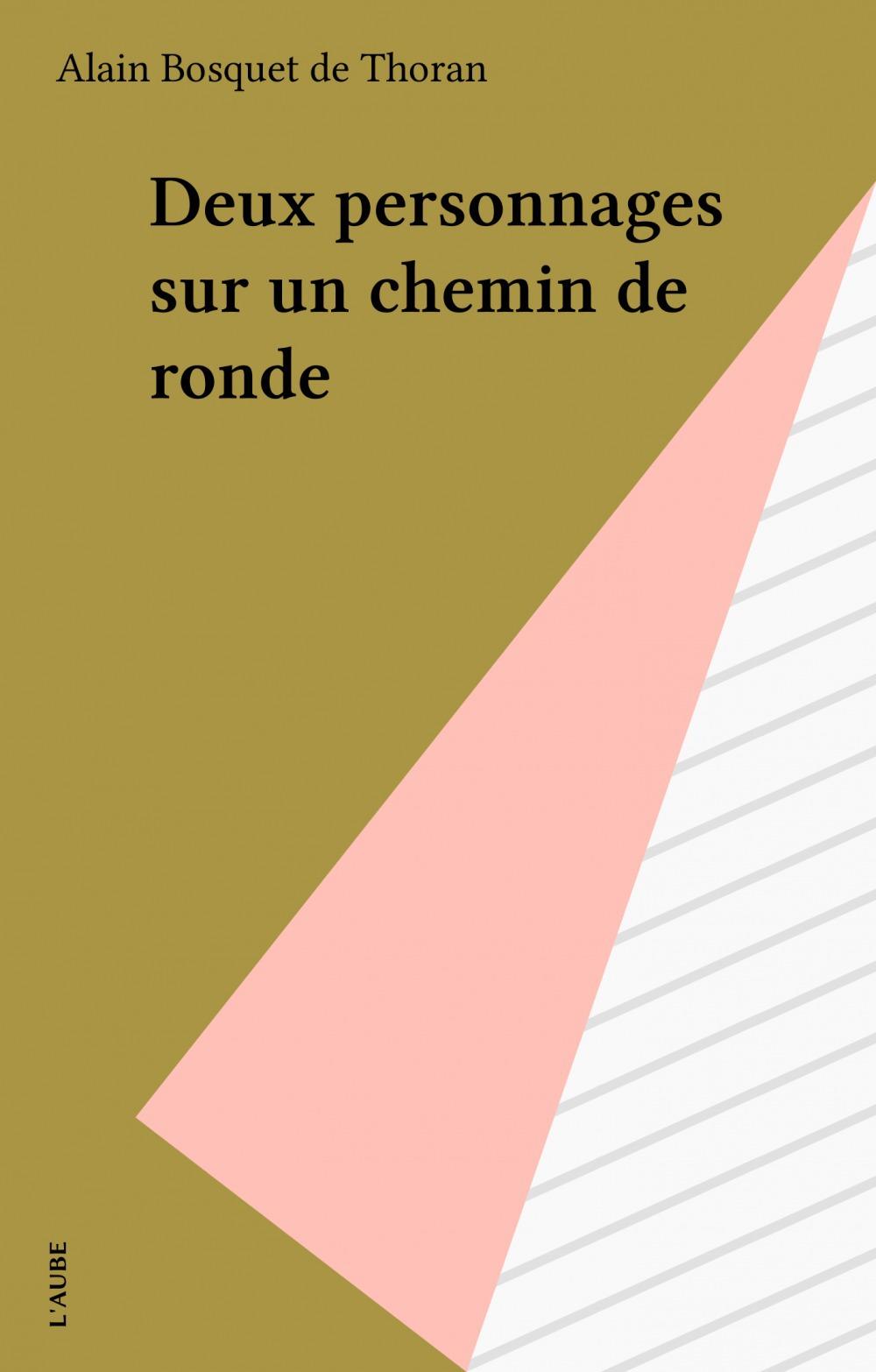 Deux personnages sur un chemin de ronde  - Alain Bosquet de Thoran