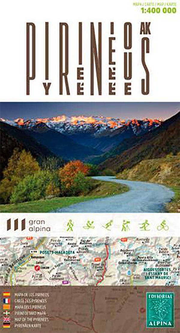 Carte des Pyrénées