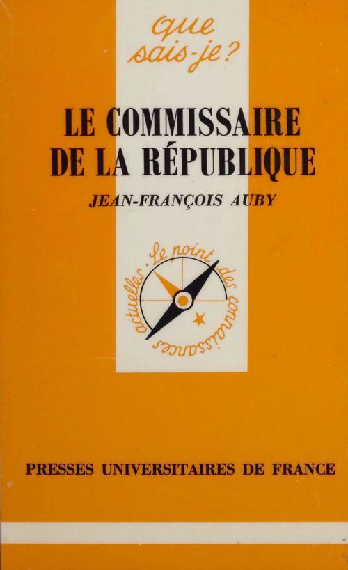 Le commissaire de la republique qsj 2071