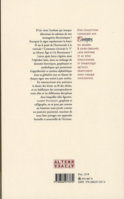 Lettres latines ; rencontre avec des formes remarquables