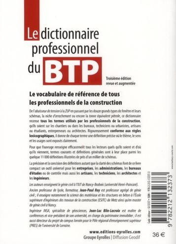 Le dictionnaire professionnel du BTP (3e édition)