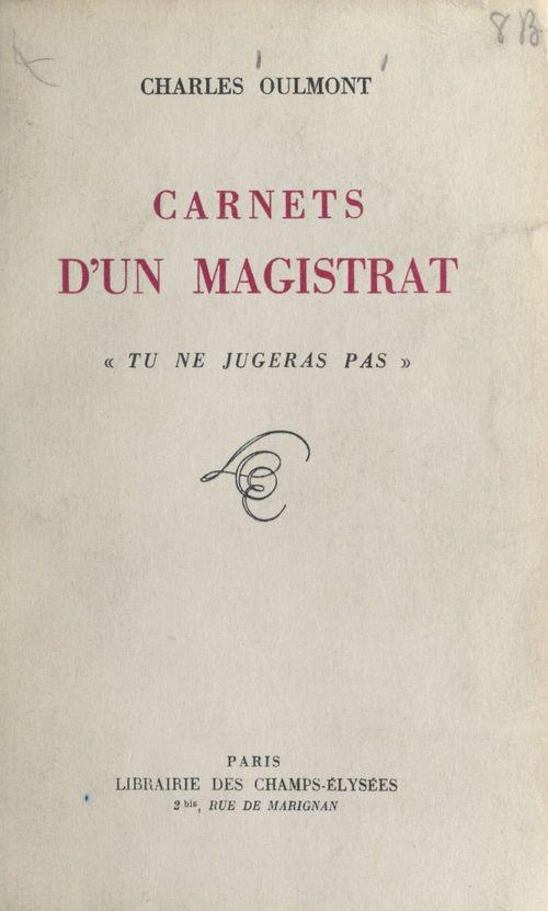 Carnets d'un magistrat