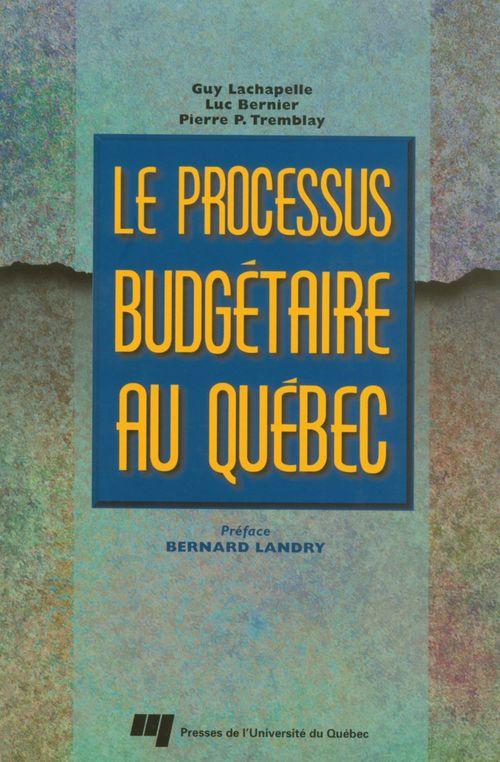 Processus budgétaire au Québec