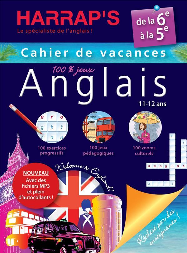 Cahier De Vacances Harrap S Anglais De La 6eme A La 5eme 11 12 Ans Collectif Larousse Grand Format Librairie Durance Nantes